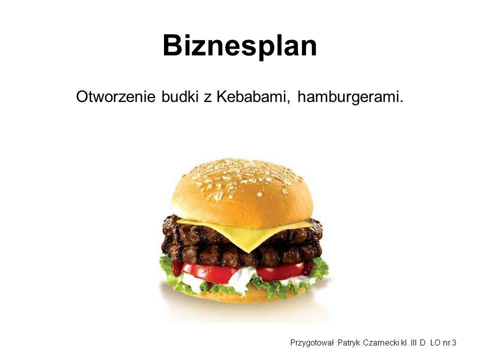 Otworzenie budki z Kebabami, hamburgerami.