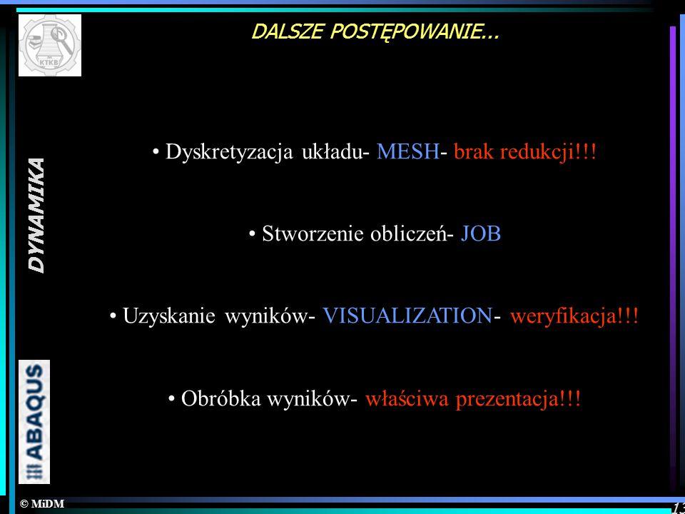 Dyskretyzacja układu- MESH- brak redukcji!!!