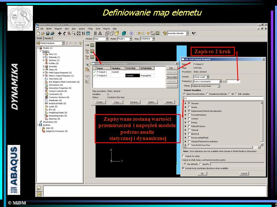 Definiowanie map elemetu