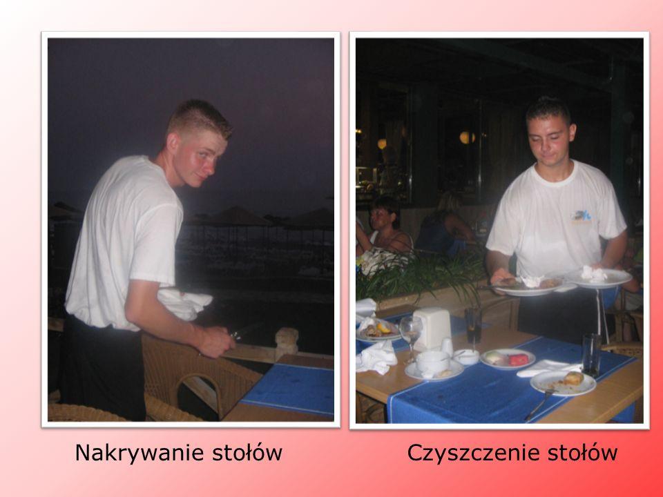 Nakrywanie stołów Czyszczenie stołów