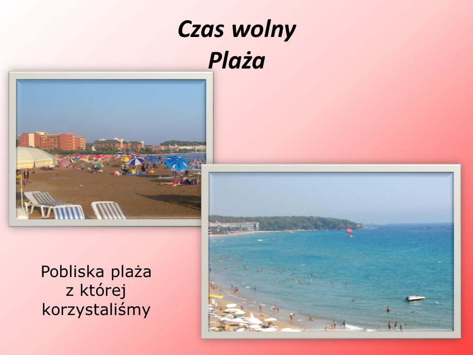 Pobliska plaża z której korzystaliśmy