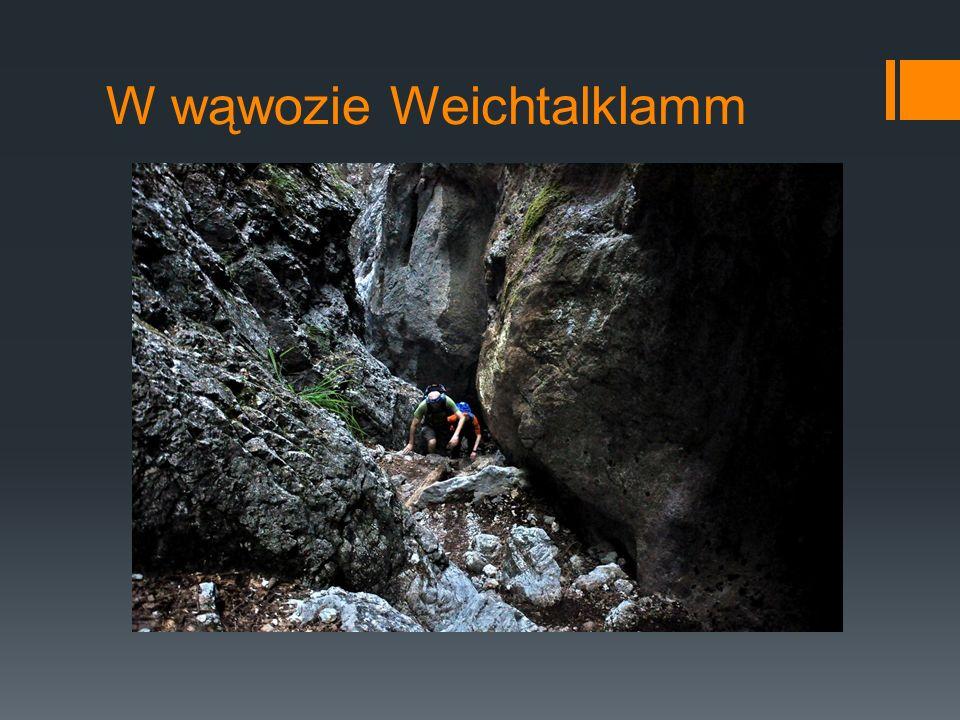 W wąwozie Weichtalklamm