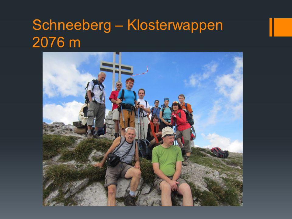 Schneeberg – Klosterwappen 2076 m