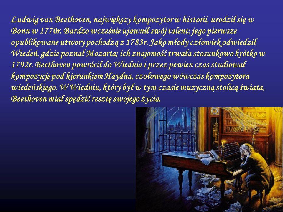 Ludwig van Beethoven, największy kompozytor w historii, urodził się w Bonn w 1770r.
