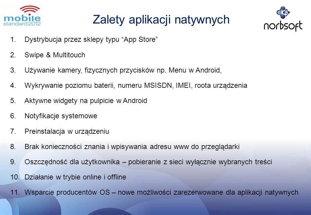 Zalety aplikacji natywnych