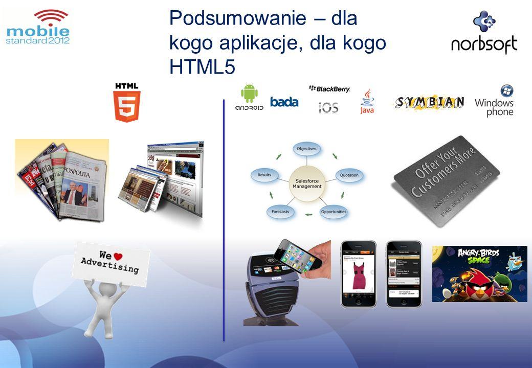 Podsumowanie – dla kogo aplikacje, dla kogo HTML5