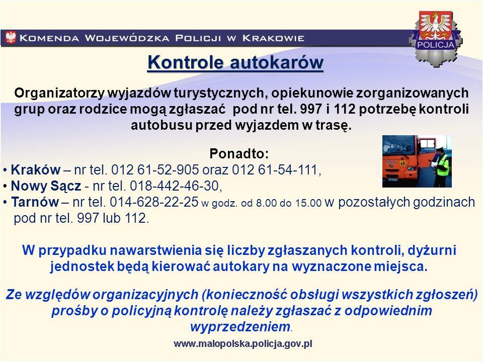 Kontrole autokarów