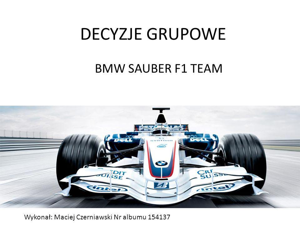 DECYZJE GRUPOWE BMW SAUBER F1 TEAM