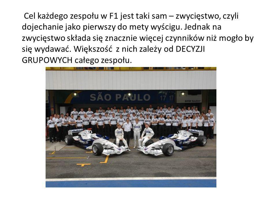 Cel każdego zespołu w F1 jest taki sam – zwycięstwo, czyli dojechanie jako pierwszy do mety wyścigu.