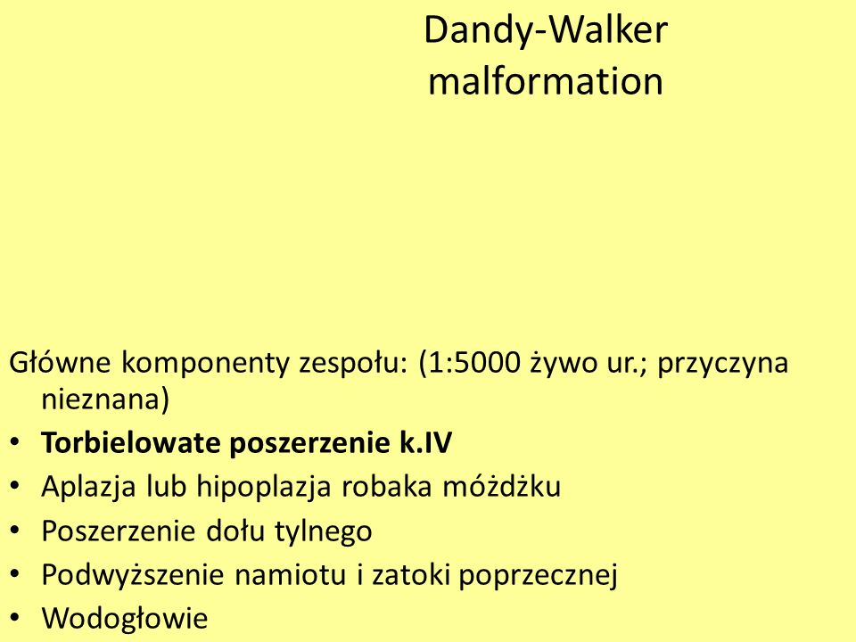 Dandy-Walker malformation