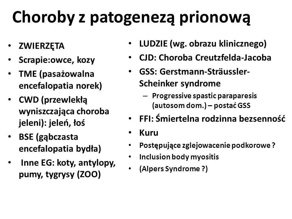 Choroby z patogenezą prionową