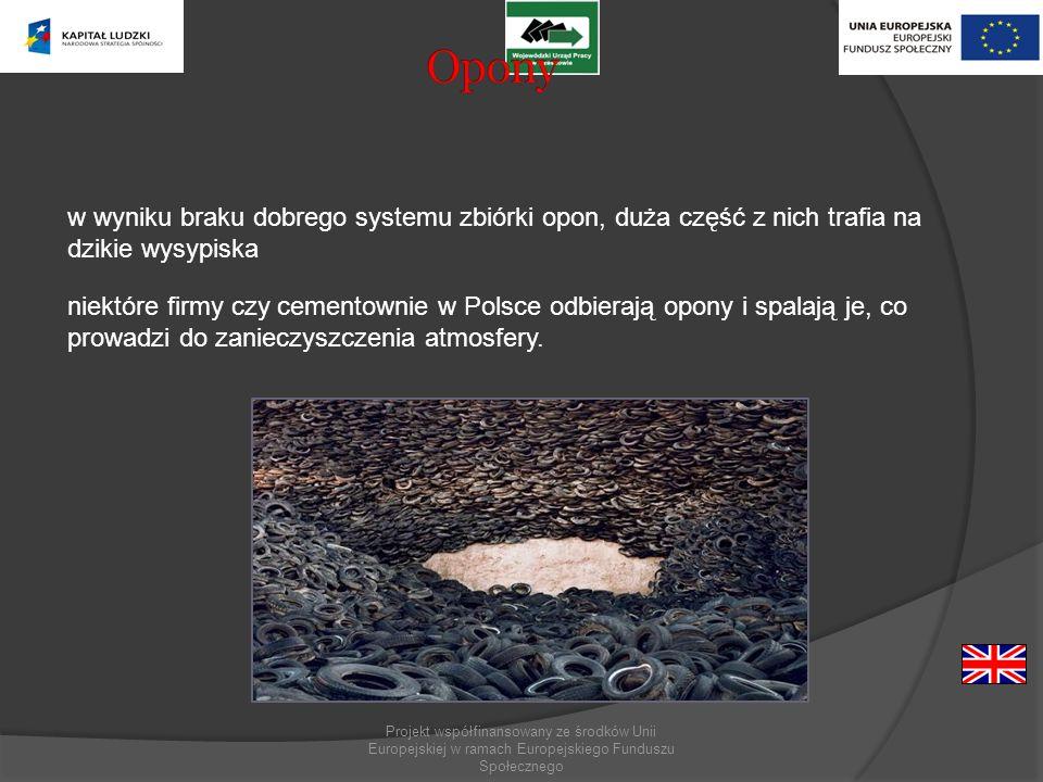 Opony w wyniku braku dobrego systemu zbiórki opon, duża część z nich trafia na dzikie wysypiska.