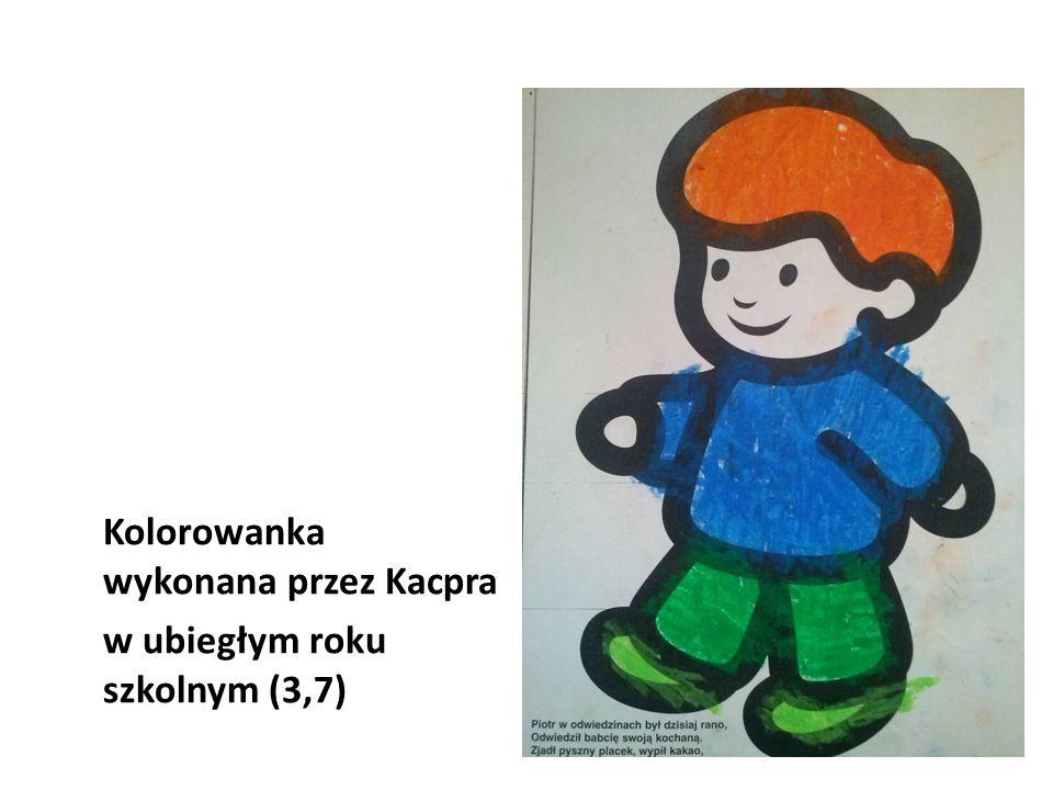 Kolorowanka wykonana przez Kacpra