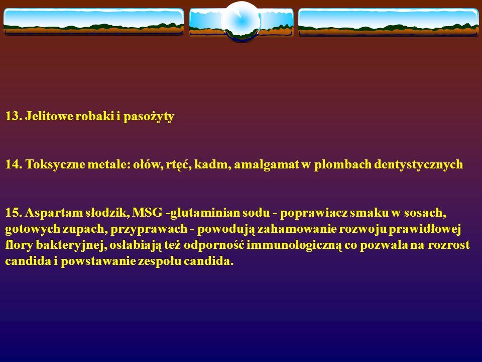 13. Jelitowe robaki i pasożyty