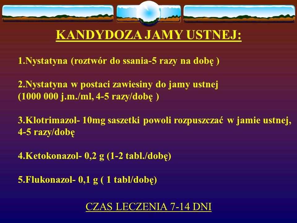 KANDYDOZA JAMY USTNEJ: