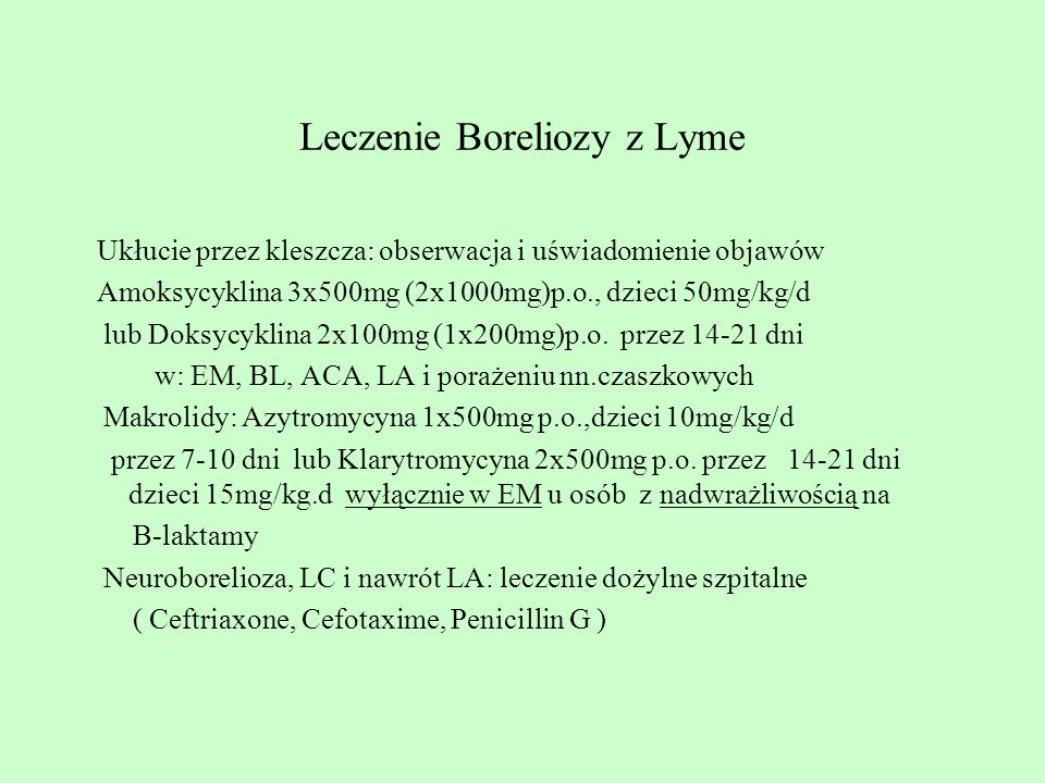 Leczenie Boreliozy z Lyme