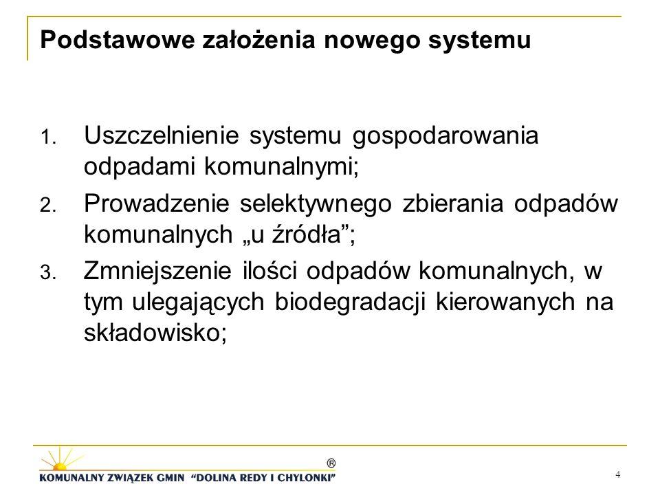 Podstawowe założenia nowego systemu