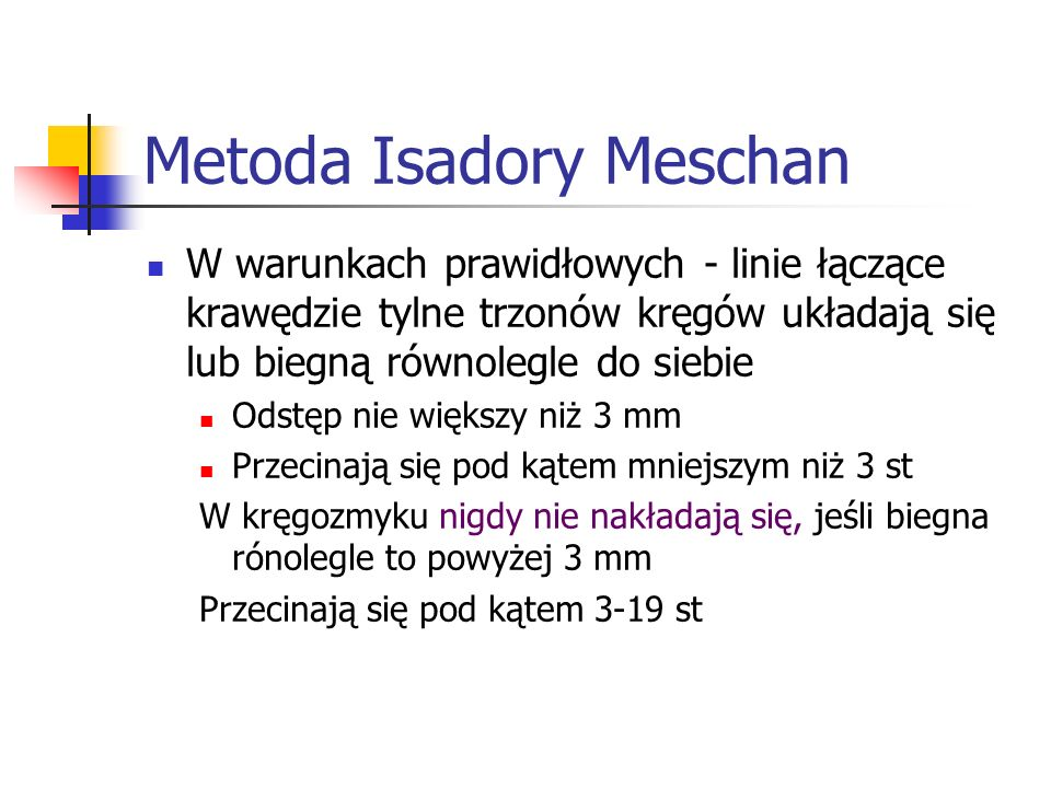Metoda Isadory Meschan