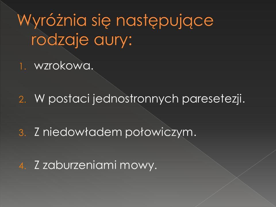Wyróżnia się następujące rodzaje aury: