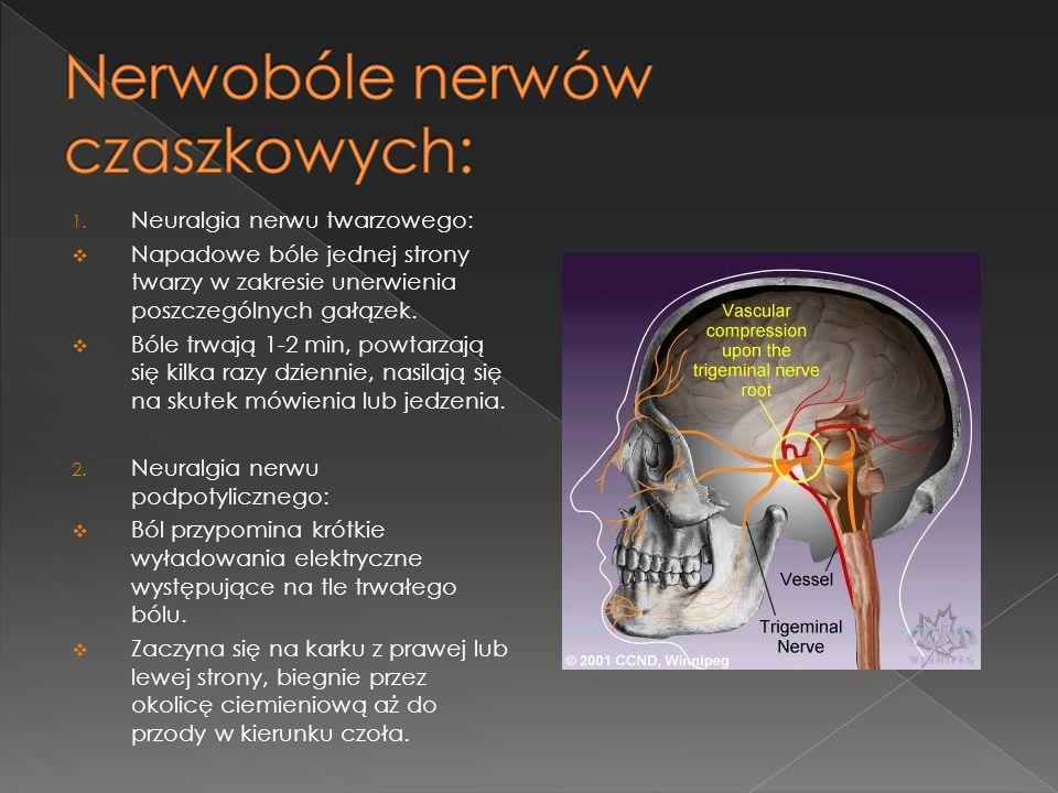 Nerwobóle nerwów czaszkowych: