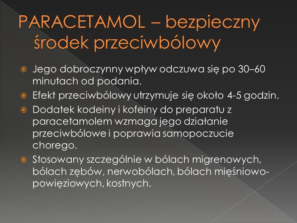 PARACETAMOL – bezpieczny środek przeciwbólowy