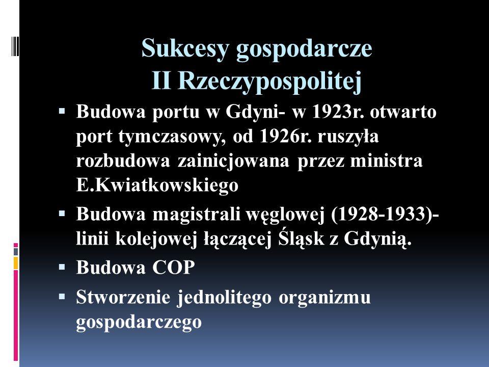 Sukcesy gospodarcze II Rzeczypospolitej