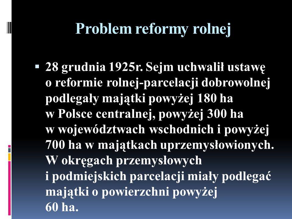 Problem reformy rolnej