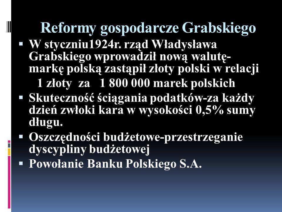 Reformy gospodarcze Grabskiego
