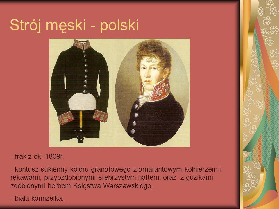 Strój męski - polski frak z ok. 1809r,