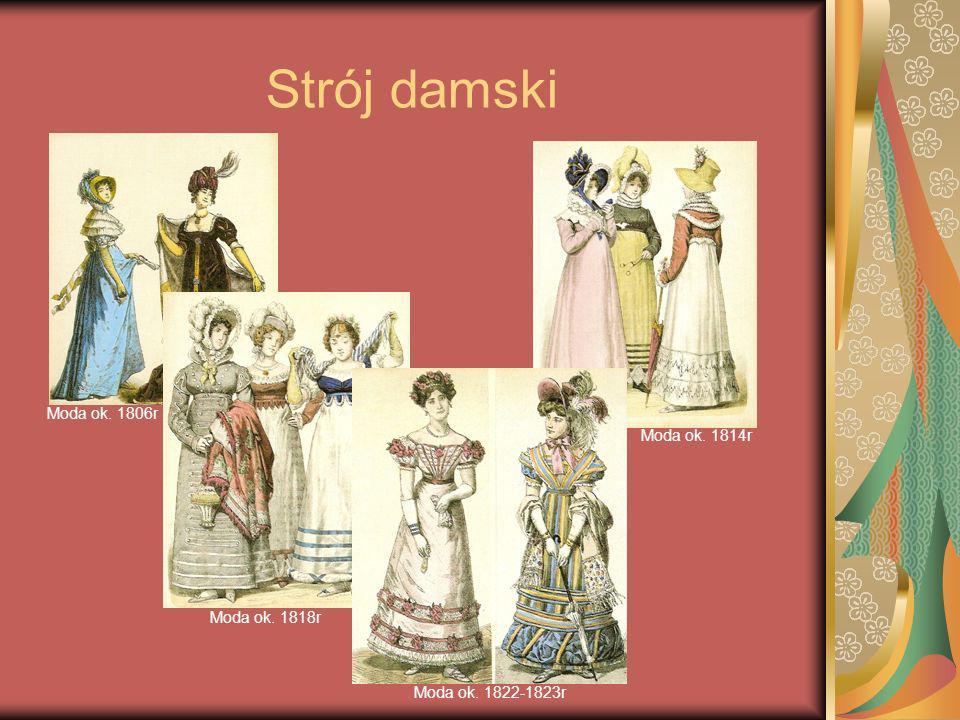Strój damski Moda ok. 1806r Moda ok. 1814r Moda ok. 1818r