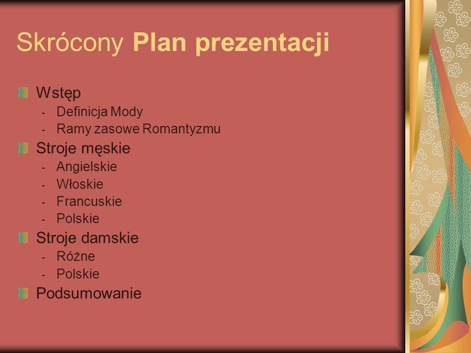 Skrócony Plan prezentacji