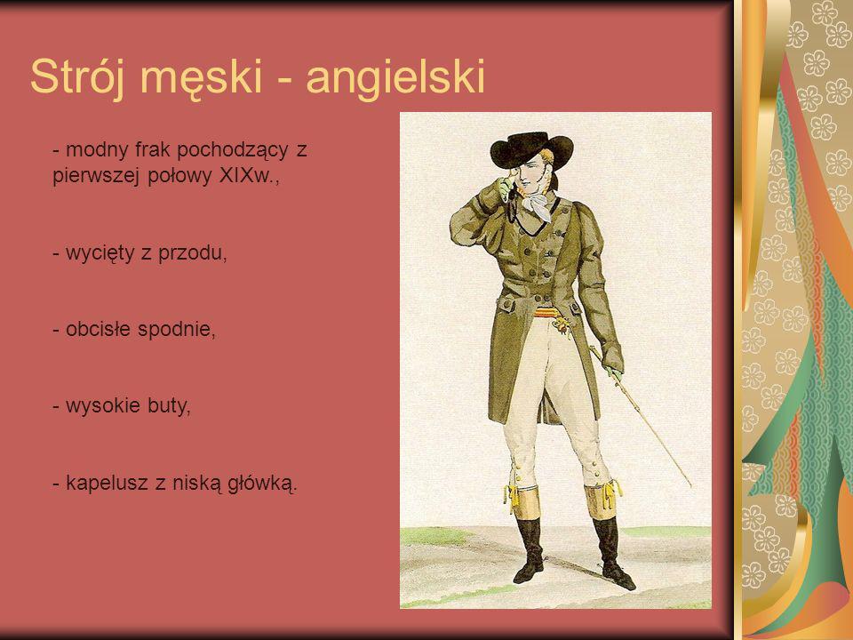 Strój męski - angielski