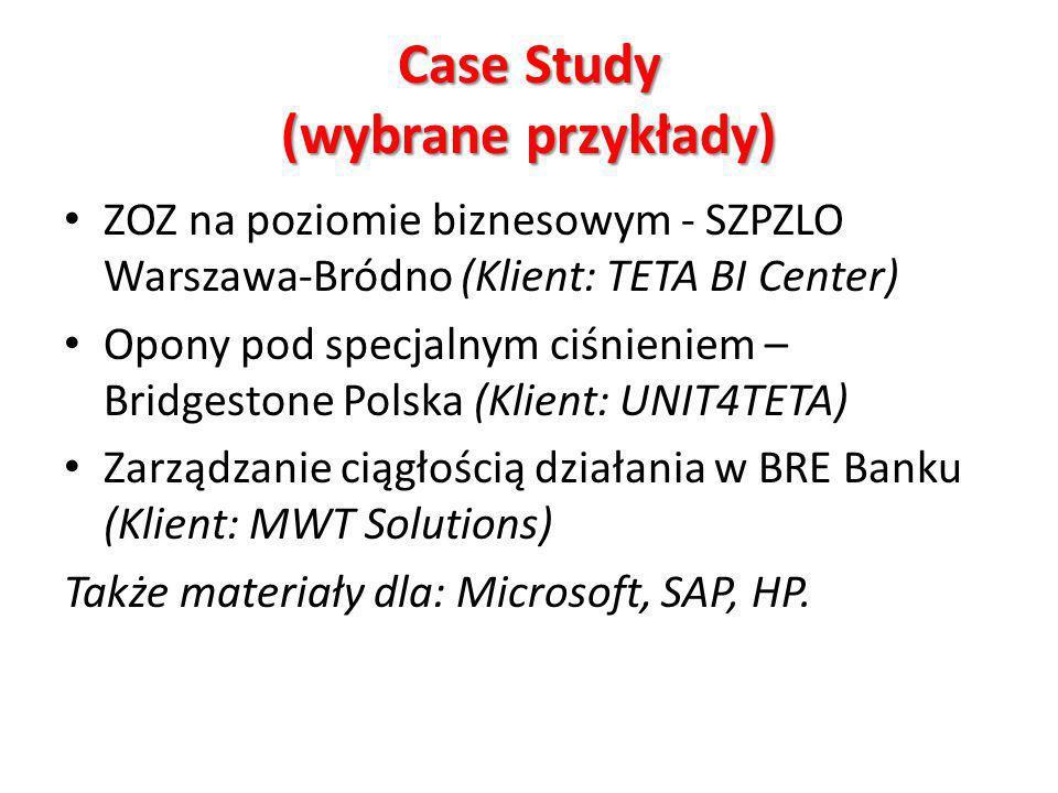 Case Study (wybrane przykłady)