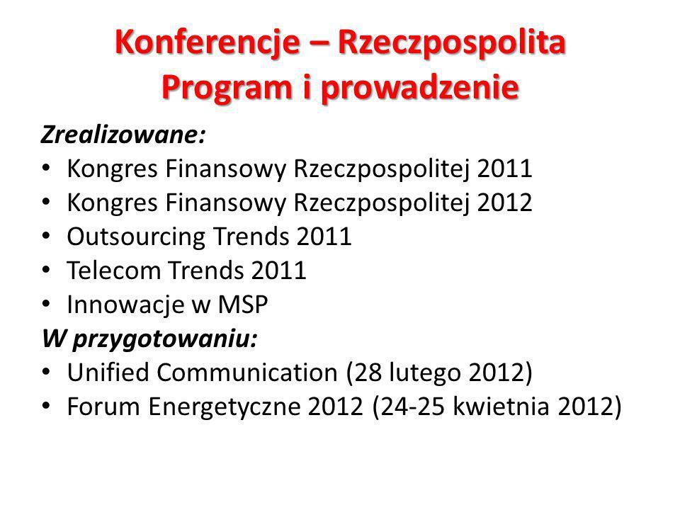 Konferencje – Rzeczpospolita Program i prowadzenie