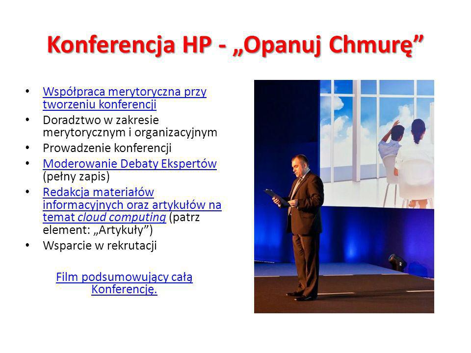 "Konferencja HP - ""Opanuj Chmurę"