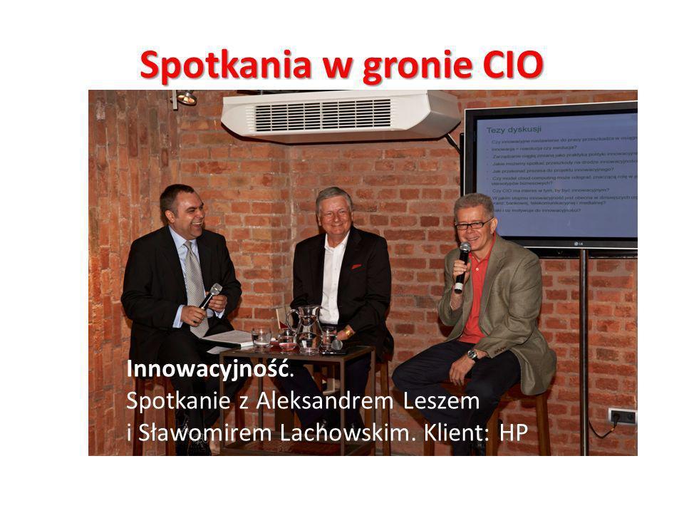 Spotkania w gronie CIO Innowacyjność. Spotkanie z Aleksandrem Leszem
