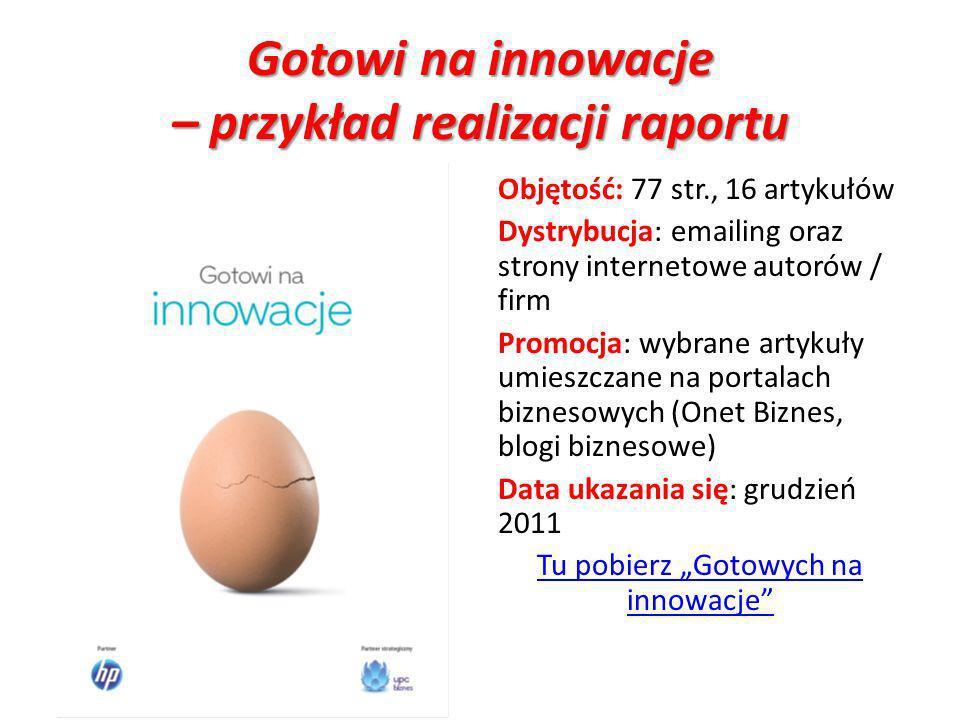 Gotowi na innowacje – przykład realizacji raportu