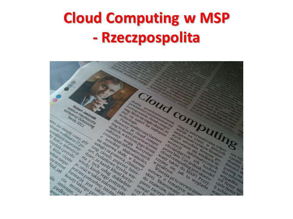 Cloud Computing w MSP - Rzeczpospolita