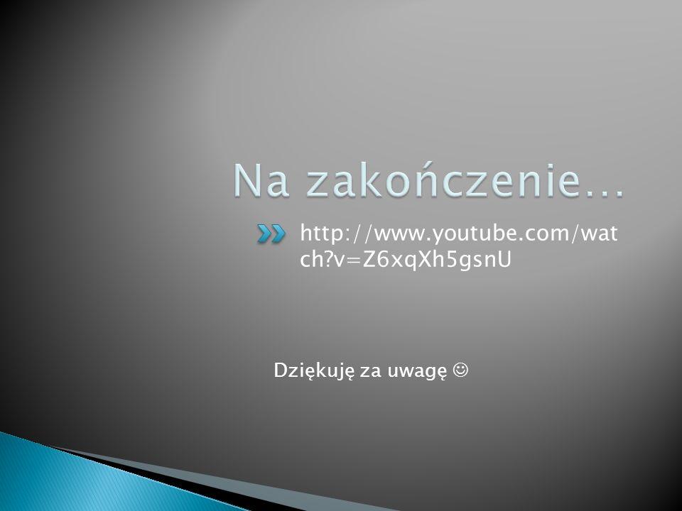 Na zakończenie… http://www.youtube.com/wat ch v=Z6xqXh5gsnU