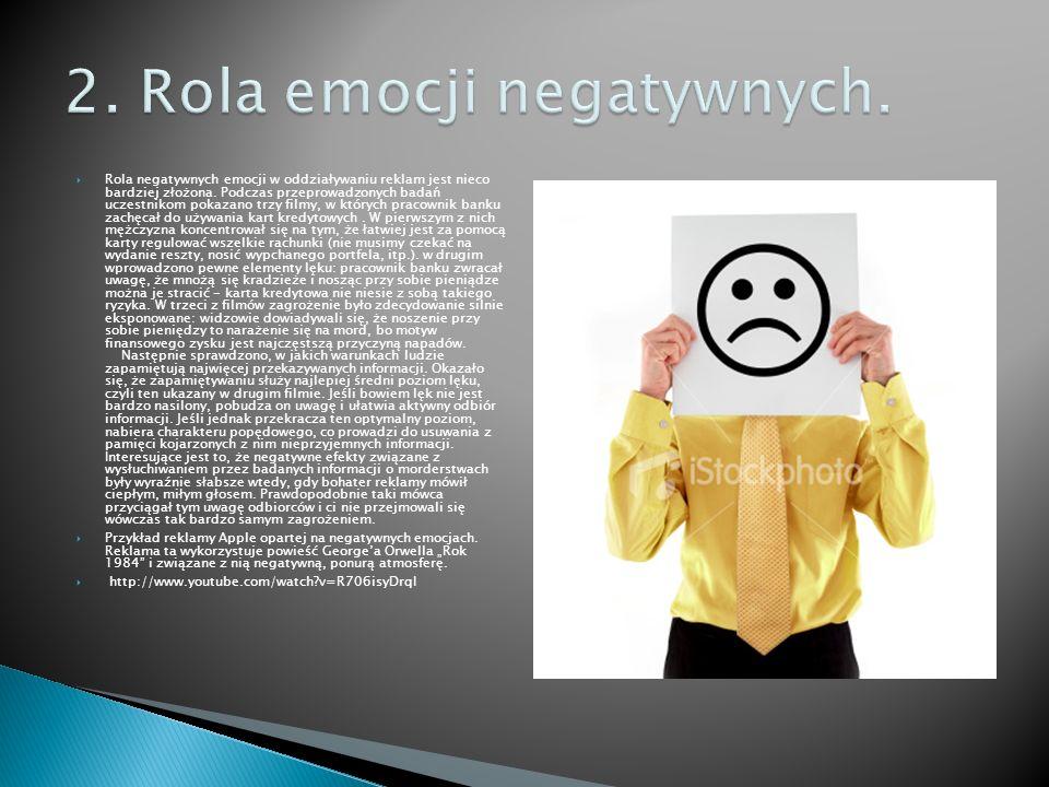 2. Rola emocji negatywnych.