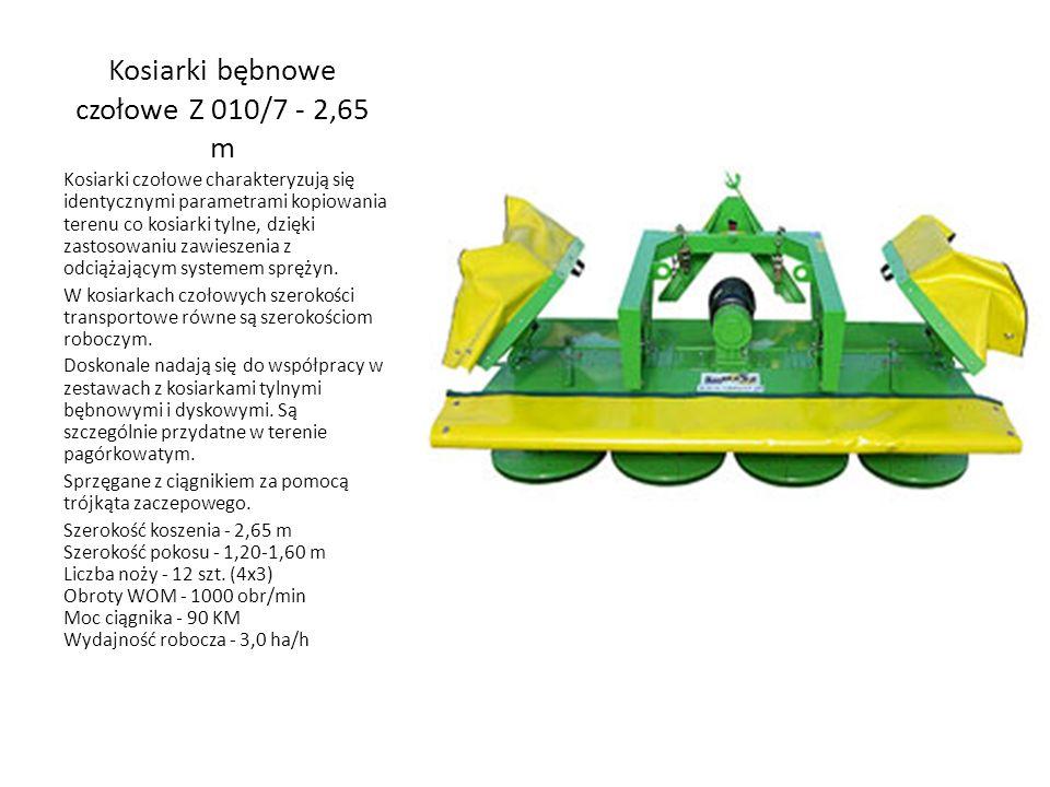 Kosiarki bębnowe czołowe Z 010/7 - 2,65 m