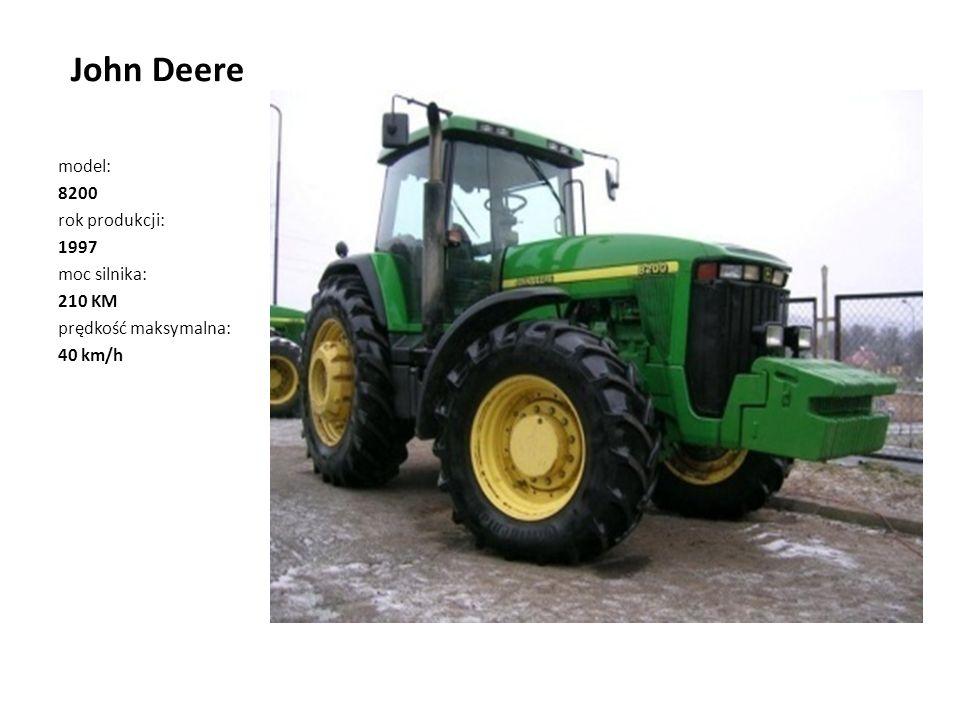 John Deere model: 8200 rok produkcji: 1997 moc silnika: 210 KM
