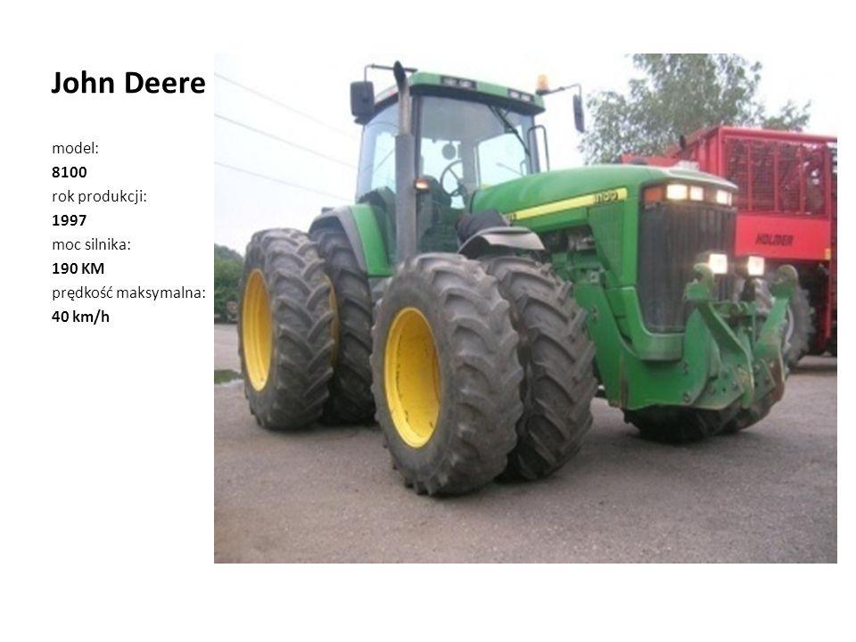John Deere model: 8100 rok produkcji: 1997 moc silnika: 190 KM