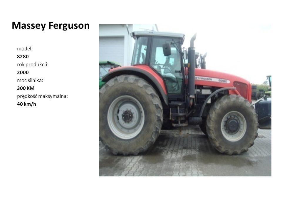 Massey Ferguson model: 8280 rok produkcji: 2000 moc silnika: 300 KM