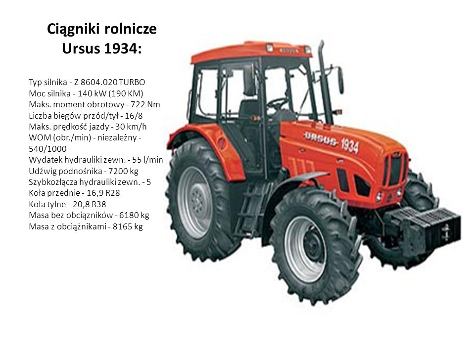 Ciągniki rolnicze Ursus 1934: