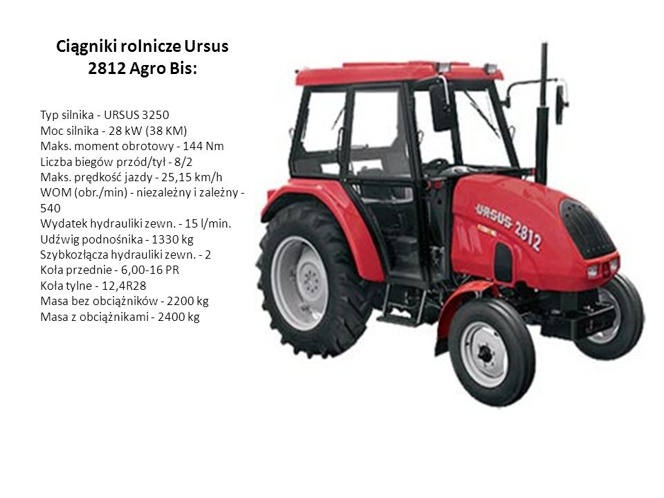Ciągniki rolnicze Ursus 2812 Agro Bis: