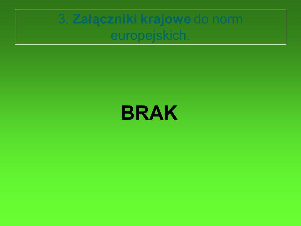 3. Załączniki krajowe do norm europejskich.