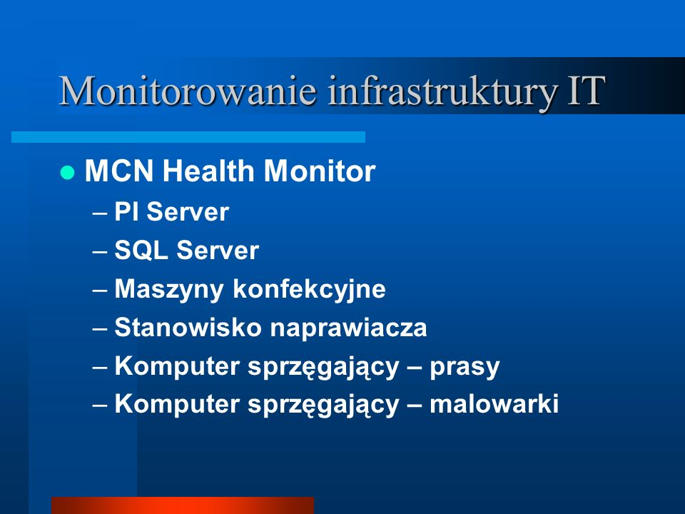 Monitorowanie infrastruktury IT