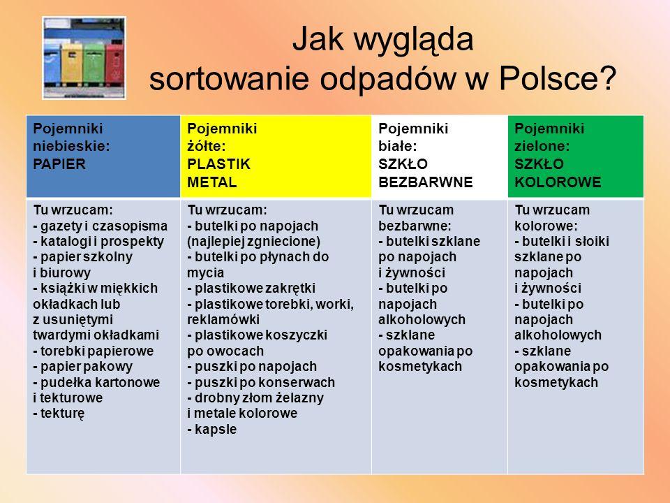 Jak wygląda sortowanie odpadów w Polsce