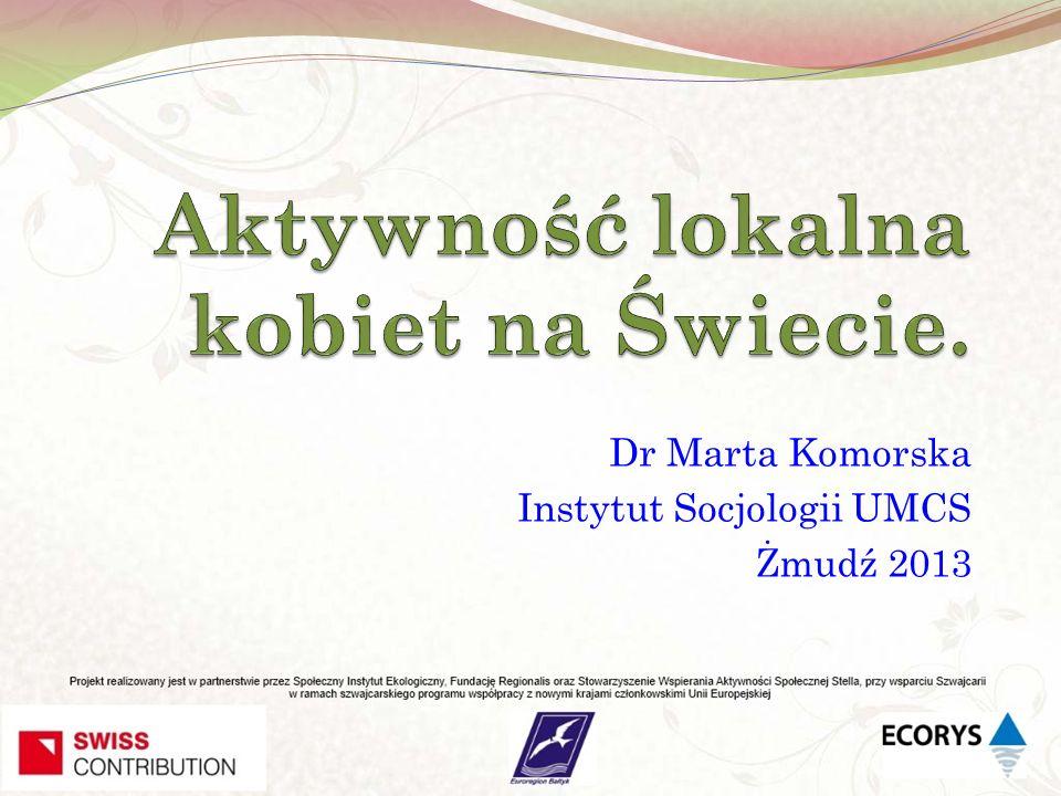 Aktywność lokalna kobiet na Świecie.